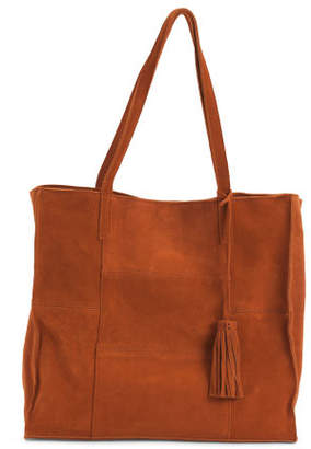 Taylor Patchwork Suede Tote