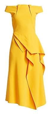 Roland Mouret Women's Arch Off-The-Shoulder Midi Dress