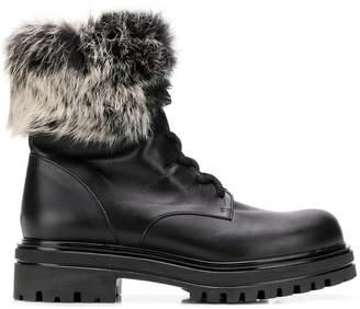 Albano fur trim boots