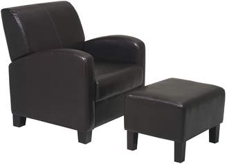 Office Star Products Home Star Products Metro Chair & Ottoman Set