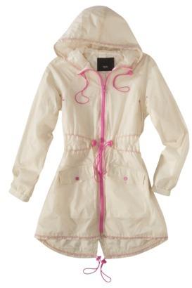 Mossimo Women's Windbreaker Anorak Jacket -Cream