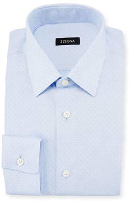 Z Zegna Micro Dot-Print Dress Shirt