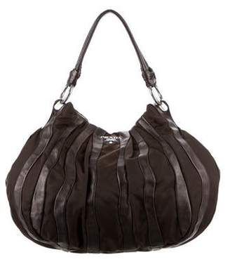 Prada Tessuto & Leather Waves Hobo