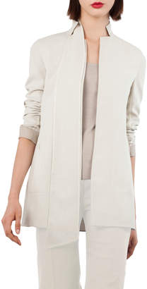 Akris ReverNotch-Collar Wool-Blend Jacket