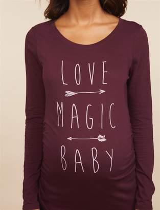Motherhood Maternity Love Magic Baby Long Sleeve Maternity Shirt