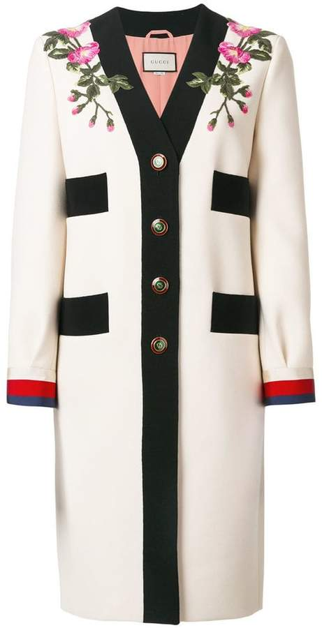 Gucci GG Web embroidered coat