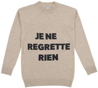 Orwell + Austen Cashmere - Je Ne Regrette Sweater Oatmeal & Black