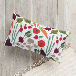 Fun Veggies Lumbar Pillow
