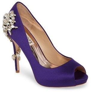 Women's Badgley Mischka 'Royal' Crystal Embellished Peeptoe Pump $245 thestylecure.com