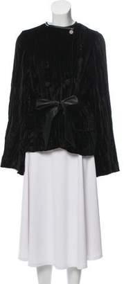 Alexander Wang Leather-Trimmed Velvet Jacket