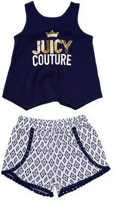 Juicy Couture Graphic Accented Tank And Short Set