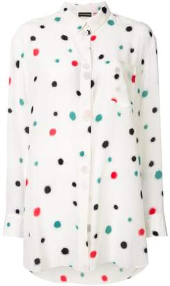 Emporio Armani splatter print oversized shirt