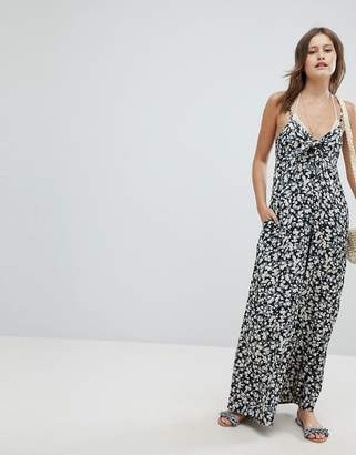 Billabong Floral Beach Jumpsuit