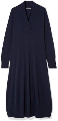 Agnona Cashmere Midi Dress - Navy