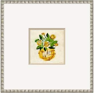 Soicher Marin Ranunculus Basket by Dana Gibson (Framed Giclee)