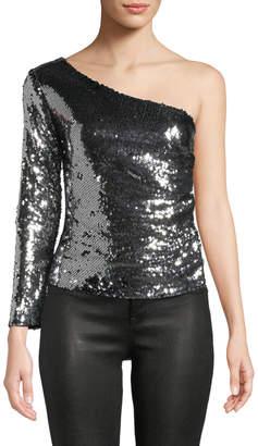 STYLEKEEPERS Ella One-Sleeve Sequin Blouse