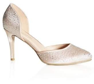 City Chic Amore Heel - champagne