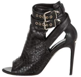 Burberry Python Ankle Boots