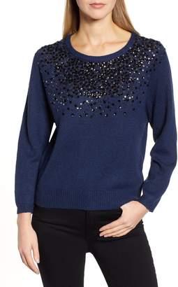 CeCe Sequin Sweater