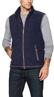 True Grit Men's Bonded Polar Fleece & Faux Sherpa Vest with Zip Pockets