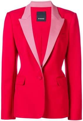 Pinko contrast lapel blazer