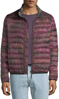 Valentino Men's Camo Quilted Long-Sleeve Jacket