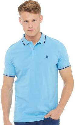 U.S. Polo Assn. Mens Jay Polo Ethereal Blue