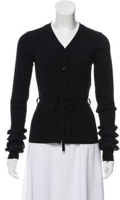 Nina Ricci Wool Rib Knit Cardigan