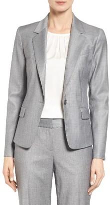 Women's Classiques Entier Wool Blend One-Button Suit Jacket $299 thestylecure.com