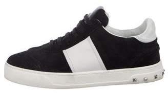 Valentino Rockstud Suede Sneakers