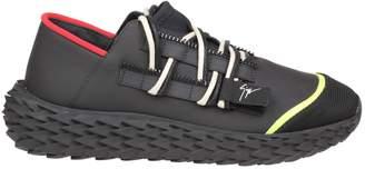 Giuseppe Zanotti Design Sneakers Urchin In Black Rubbered Leather