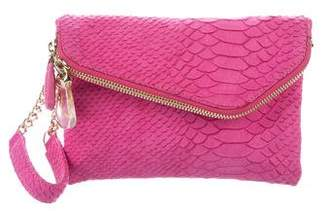 Henri Bendel Embossed Leather Wrist Pouch