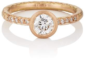 Malcolm Betts Women's Round White Diamond Ring