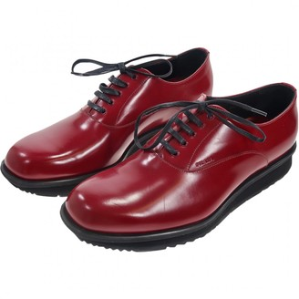 fe9205437593 Lace Shoes Men Red Leather