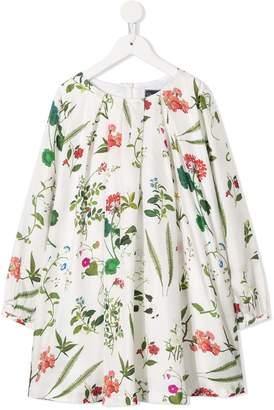 Oscar de la Renta Kids long-sleeve floral dress