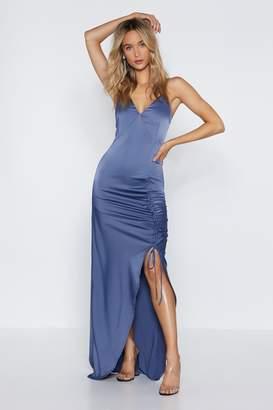 Nasty Gal Thigh's the Limit Maxi Dress