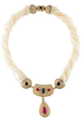 Repossi 18K Multistone Collar Necklace