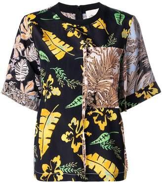 3.1 Phillip Lim floral patchwork T-shirt