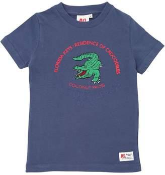 Crocodile Brushed Cotton Jersey T-Shirt