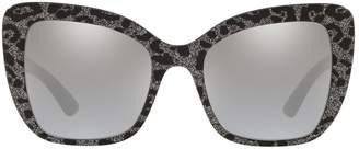 Dolce & Gabbana Leopard Print Butterfly Sunglasses