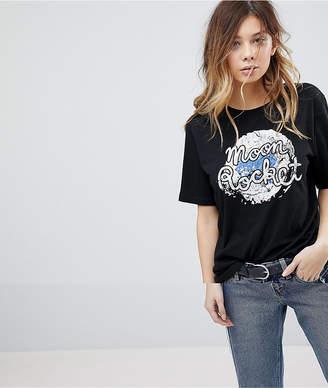 Pieces Slogan Front T-Shirt