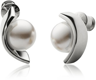 Skagen Glass Pearls and Stainless Steel Agnethe Women's Earrings