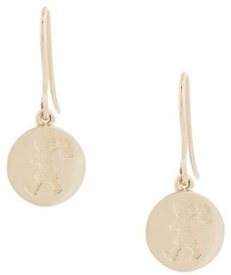 Karen Walker 9kt gold Runaway Stamp earrings Gold