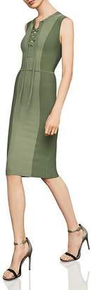 BCBGMAXAZRIA Safari Lace-Up Body-Con Dress