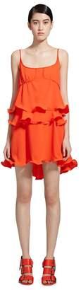 Sies Marjan Bluma Crepe Wobble Ruffle Dress