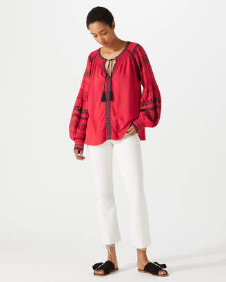 Jigsaw Embroidered Blouse