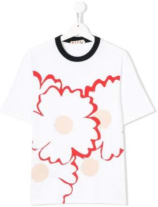 Marni TEEN floral print T-shirt