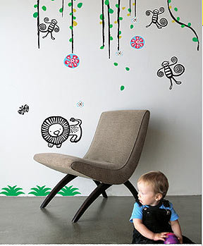 Blik Wee Gallery Jungle Re-Stik Wall Decal