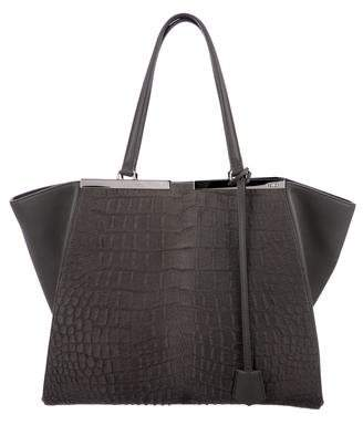 Fendi Embossed Ponyhair Large 3Jours Tote