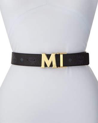 MCM Reversible M-Buckle Belt - Golden Buckle